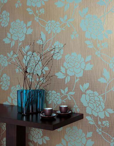 turkuaz desenli duvar kağıt yeni tasarım duvar kağıt desenleri ve renkleri