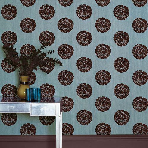 desenli duvar kağıt fiyatları yeni tasarım duvar kağıt desenleri ve renkleri - turkuvaz cicekli kahve duvar kagidi - Yeni Tasarım Duvar Kağıt Desenleri Ve Renkleri