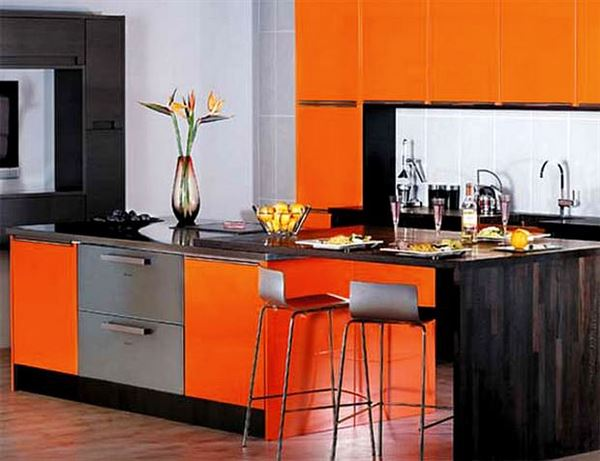 Turuncu Renkle Ev Renk Dekorasyonları turuncu renkle ev renk dekorasyonları - turuncu mutfak - Turuncu Renkle Ev Renk Dekorasyonları