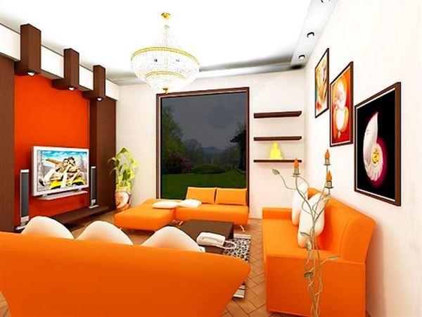 turuncu-oturma-odasi-modeli 2013 yılına Özel dekorasyon fikirleri - turuncu oturma odasi modeli