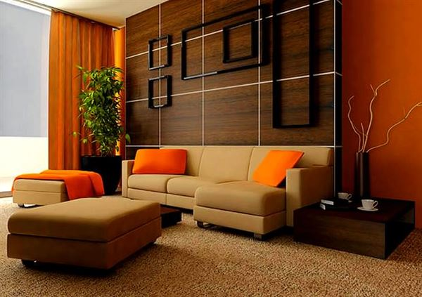 Turuncu Renkle Ev Renk Dekorasyonları 1