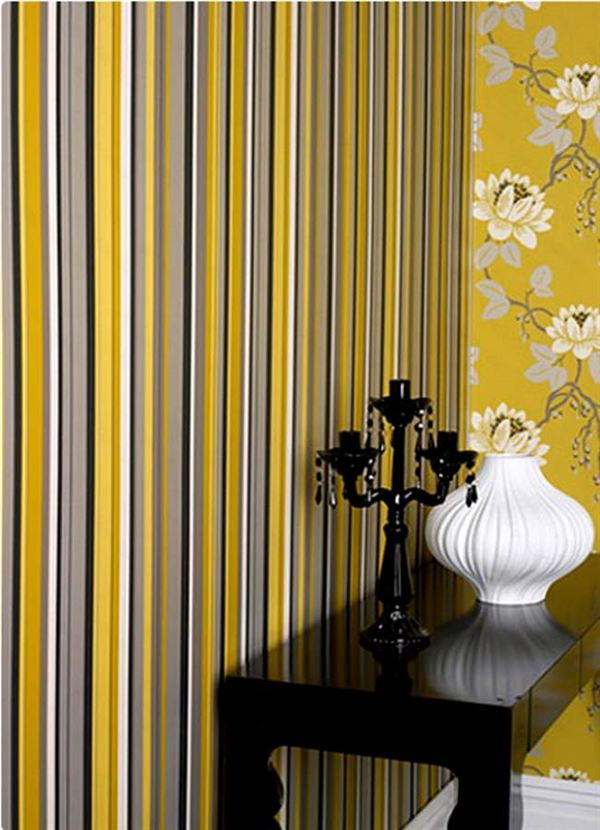 Çizgili Duvar Kağıdı Modelleri Ve Renkleri 4