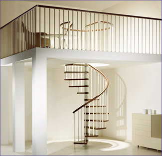 Oval Dubleks Daire Merdivenleri 12