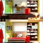 kısıtlı alanlar İçin modüler mobilya fikirleri - yatak olan dolap 150x150 - Kısıtlı Alanlar İçin Modüler Mobilya Fikirleri
