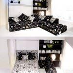kısıtlı alanlar İçin modüler mobilya fikirleri - yatak olan kose modeli 150x150 - Kısıtlı Alanlar İçin Modüler Mobilya Fikirleri