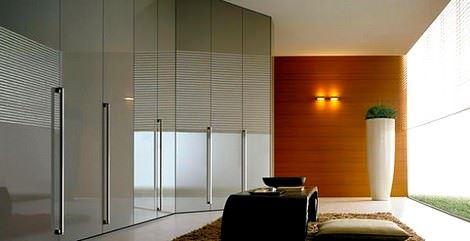 Cam kaplı modern gardırop
