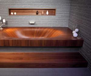 Banyolarınız İçin Ahşap Küvet Tasarımları