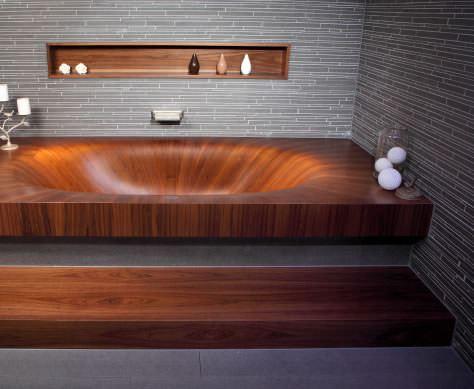 Banyolarınız İçin Ahşap Küvet Tasarımları 5