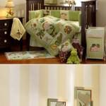 bebek odası hazırlamak - yesil bebek besik seti 150x150 - Bebek odası dekorasyon fikirleri