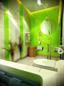 Зеленая ванная комната  № 2278666 загрузить