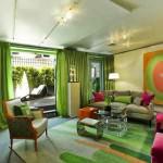Modern Renkli Salon ve Oturma Odası Stilleri 12