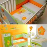 bebek odası hazırlamak - yesil turuncu bebek odasi dekoru 150x150 - Bebek odası dekorasyon fikirleri