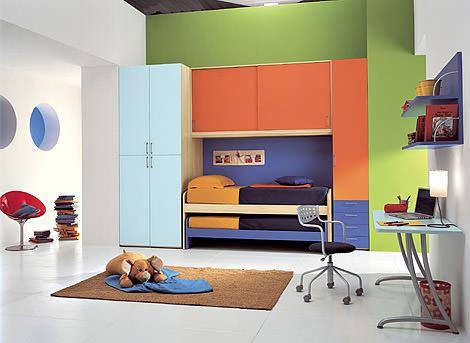 dolaplı ranza çocuk odası fonksiyonel renkli ranzalı genç odaları