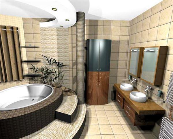 modern yenilikçi banyo dekorasyon stilleri - zarif dekoratif banyo modeli - Modern Yenilikçi Banyo Dekorasyon Stilleri