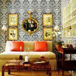 resimli duvar dekorasyonları - zebra desenli duvar 150x150 - Değişik Resimli Duvar Dekorasyonları