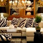 zebra-desenli-yastiklar hayvan desenli İç dekorasyon fikirleri