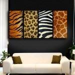 zebra-leopar-desenli-tablo hayvan desenli İç dekorasyon fikirleri