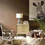 zebrali-dekorasyon hayvan desenli İç dekorasyon fikirleri