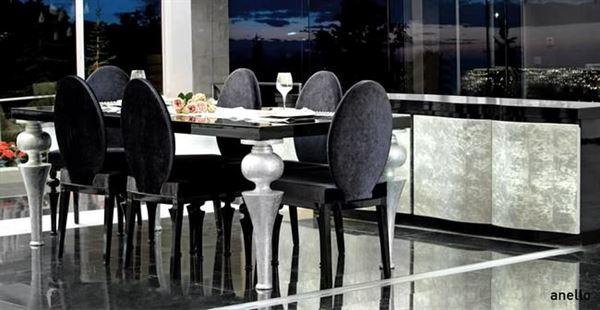 zebrano mobilya yemek odası