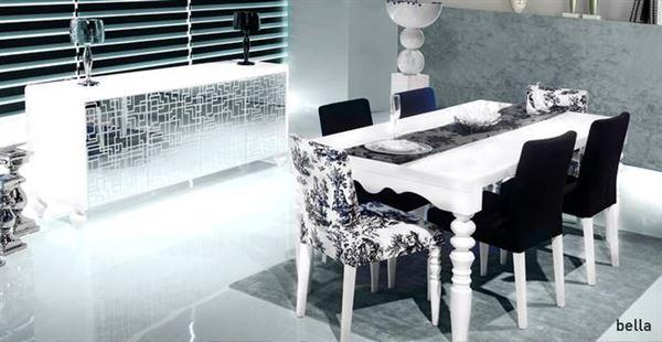 zebrano beyaz yemek odası